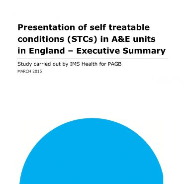 Presentation of self treatable conditions in A&E units in England (June 2015)
