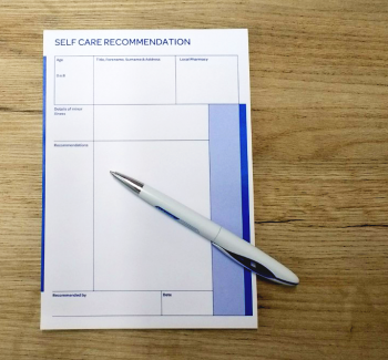 recommendation prescription pad