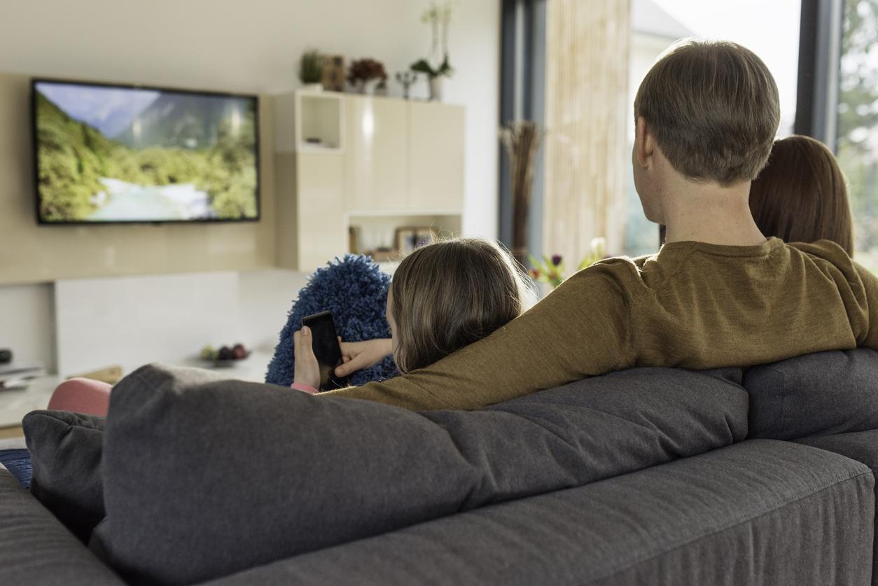 people watching TV