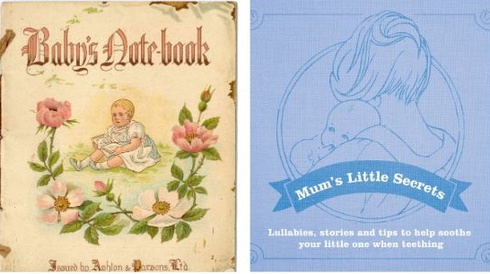 Baby's Notebook c. 1880                                             Lullaby Book 2016