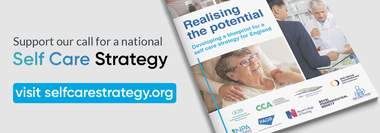 support our call for a national self care strategy image of front cover